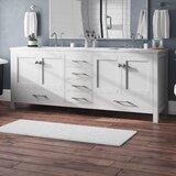 Pichardo Transitional 84 Double Bathroom Vanity Set by Brayden Studio®