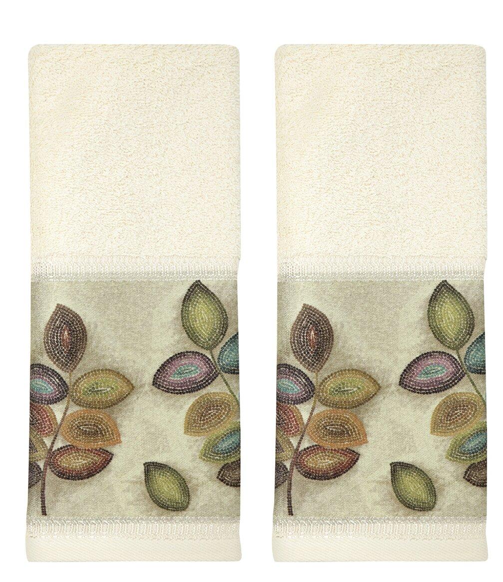 Croscill Mosaic Leaves 2 Piece 100 Cotton Hand Towel Set Wayfair