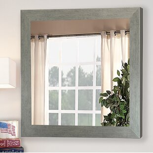 Best Reviews Tipler Brushed Silver Mirror Wall Mirror By Brayden Studio