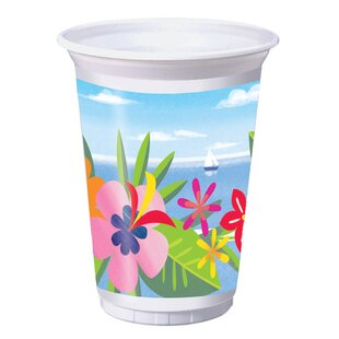 Lush Luau Plastic Disposable Every Day Cup (Set of 24)