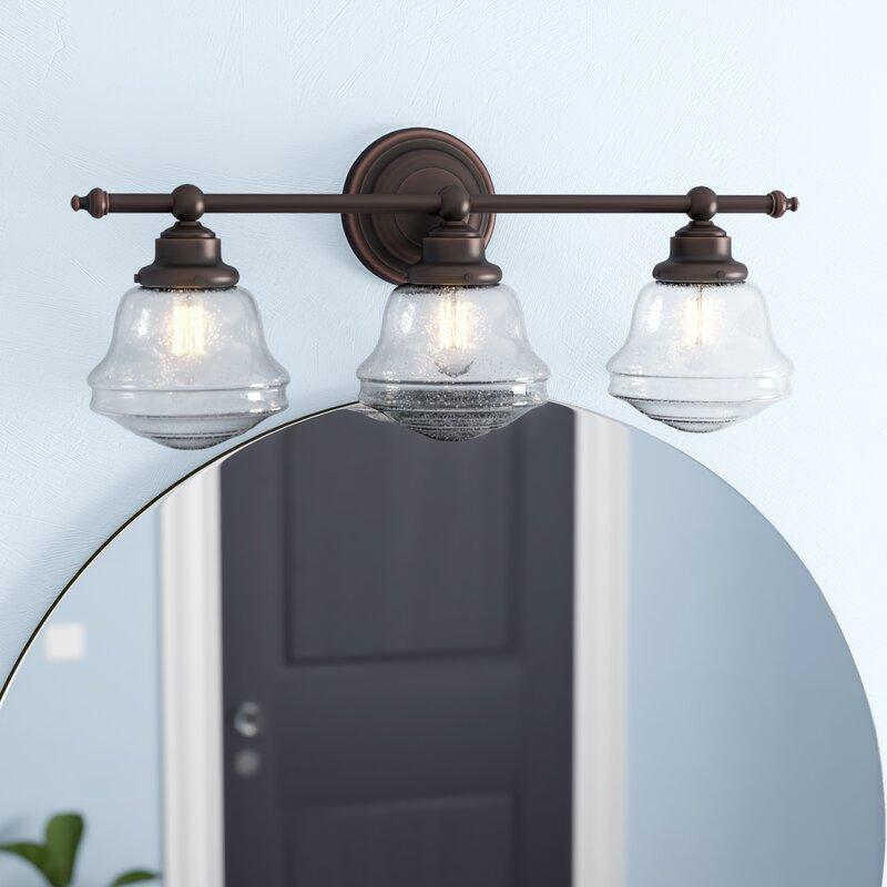 Laurel Foundry Modern Farmhouse Margaree 3 Light Vanity Light Reviews Wayfair