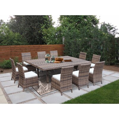 Dutil 11 Piece Sunbrella Dining Set With Cushions by Brayden Studio