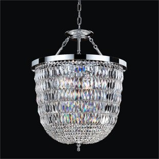 Lucia 3-Light Crystal Chandelier by Glow ..