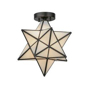Meyda Tiffany Moravian Star 1-Light Flush Mount