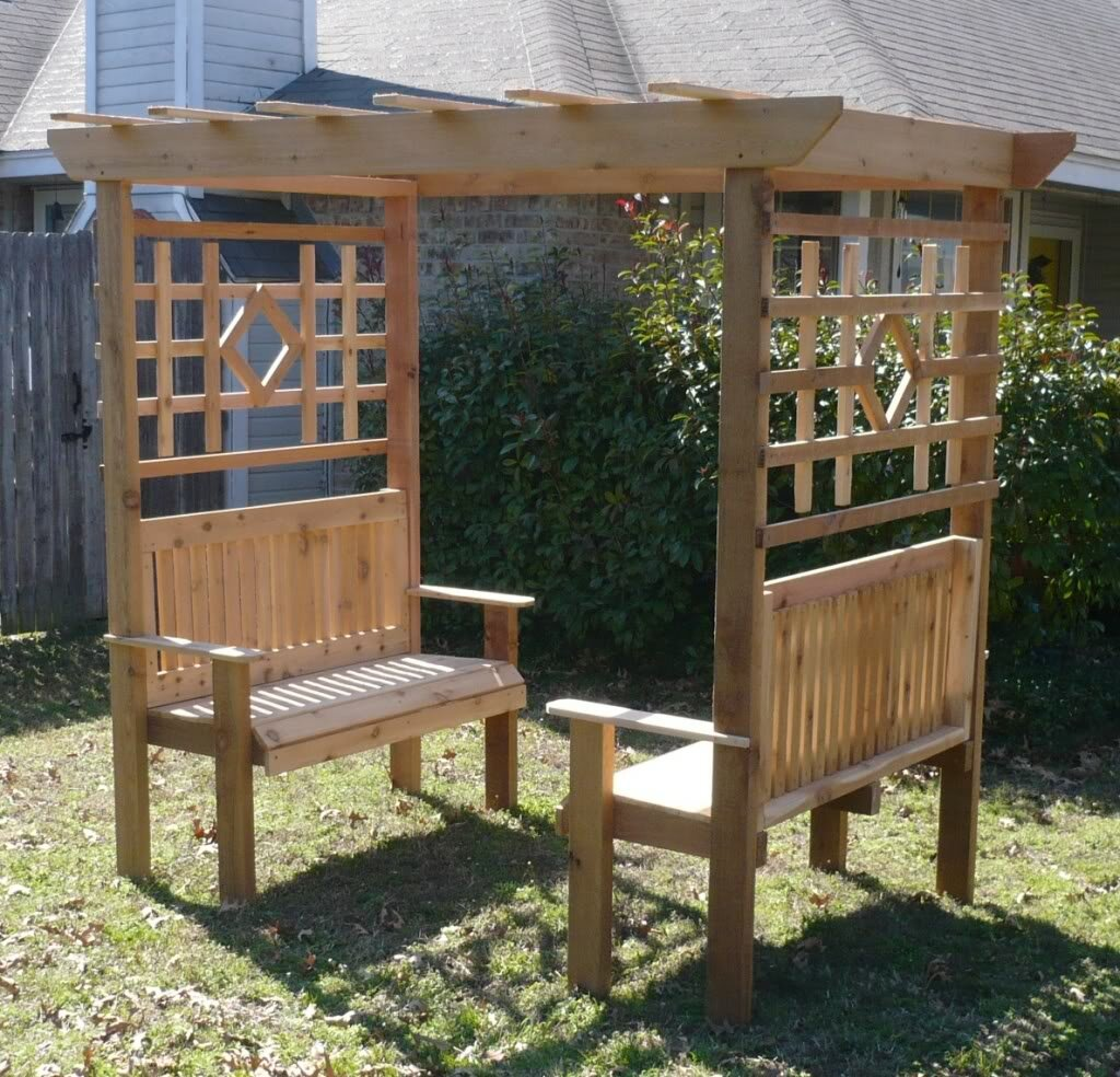 Terrific Double Garden Arbor With Bench Pdpeps Interior Chair Design Pdpepsorg