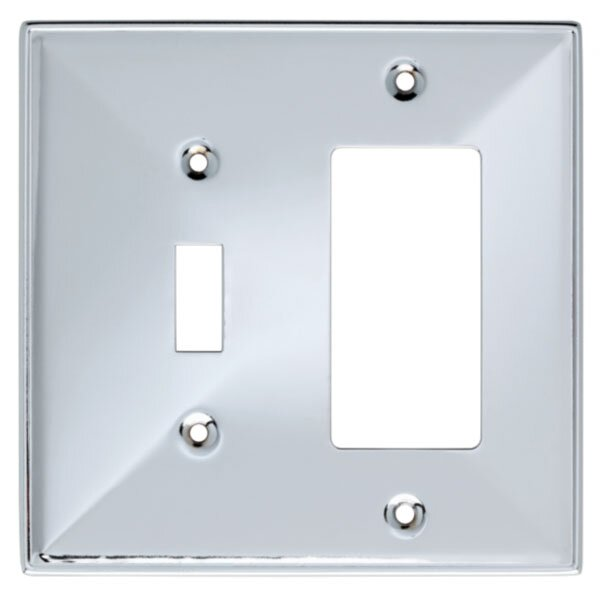 Beverly 2-Gang Toggle/Rocker Combination Wall Plate