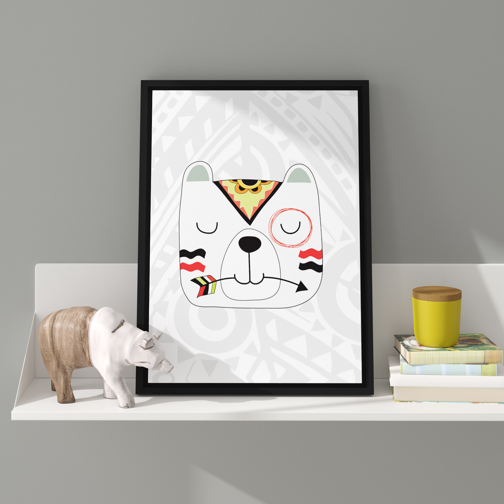 Viv Rae Aida Tribal 5 Bear Framed Art