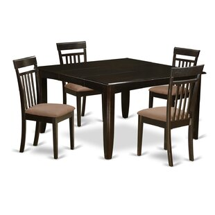 Pilning 5 Piece Extendable Solid Wood Dining Set