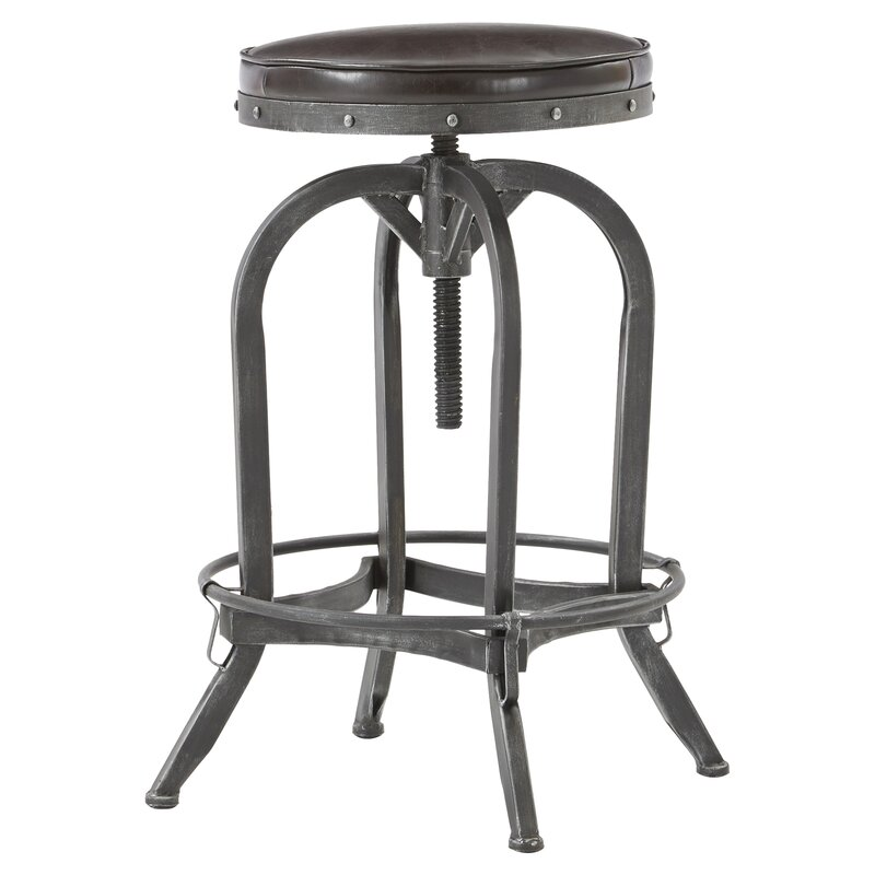 Alkaios Adjule Height Swivel Bar Stool