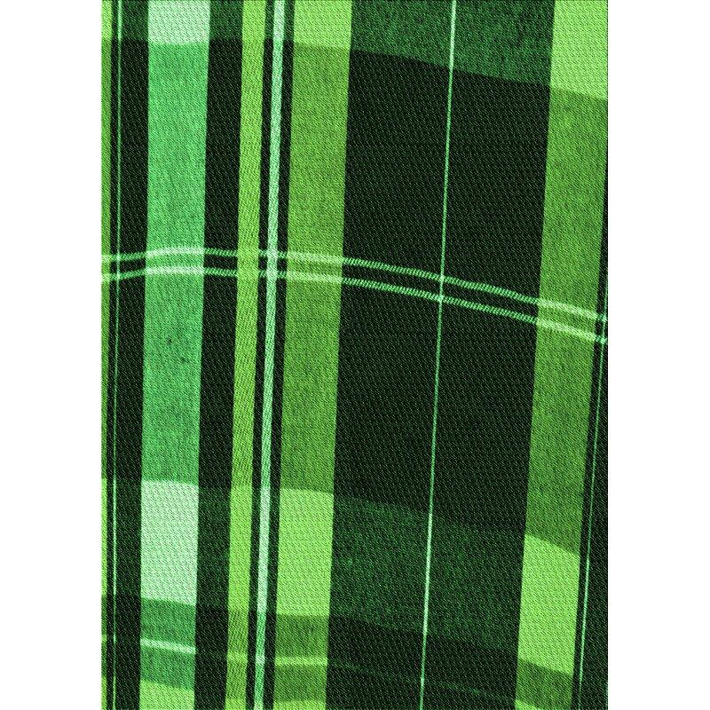East Urban Home Plaid Wool Green Area Rug Wayfair