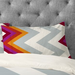 Karen Harris Modernity Solstice Warm Chevron Pillowcase