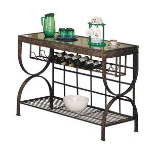 Weaver Bottom Shelf Metal Server by Fleur De Lis Living