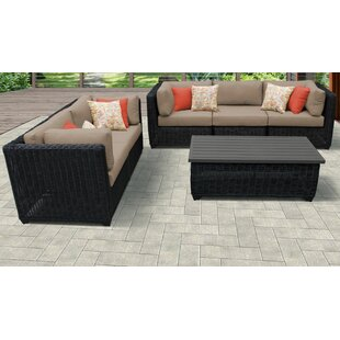 Mejia 6 Piece Outdoor Sofa Seating Group with Cushions