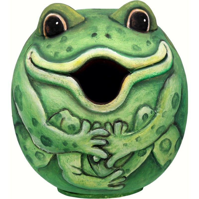 Songbird Essentials Frog Gord O 6 In X 6 In X 6 In Birdhouse Wayfair