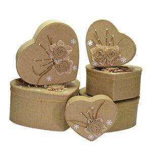 Heart Cardboard/Fabric 6 Piece Box Set By August Grove