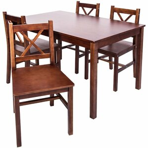 5 Piece Solid Wood Dining Set by Merax