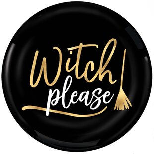Halloween Witch Please Plastic Appetizer Plate (Set of 8)