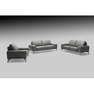 Micky 3 Piece Leather Living Room Set by Brayden Studio