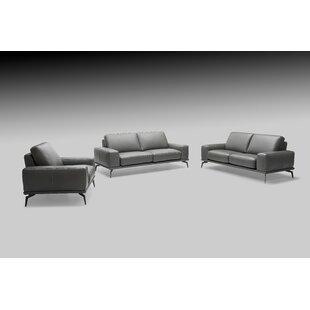 Micky 3 Piece Leather Living Room Set by Brayden Studio