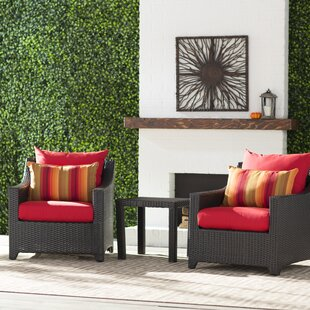 Northridge 3 Piece Sunbrella Conversation Set with Cushions
