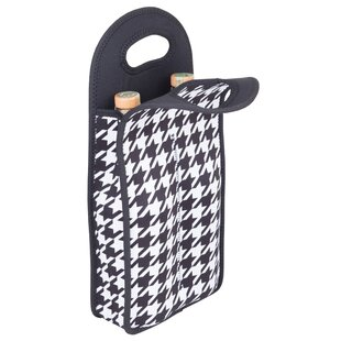 Neoprene Houndstooth Double Wine Bottle Tote
