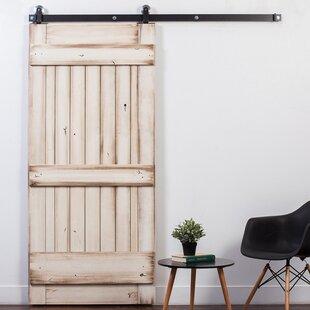 Ranch Wood Panel Stained Sliding Closet Door & Interior Sliding Closet Doors | Wayfair