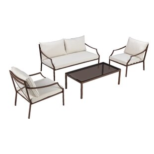 Esai 4 Piece Sofa Seating Group with Cushions