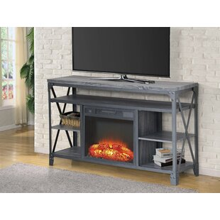 Hudson Oaks TV Stand for TVs up to with Fireplace