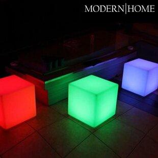Vandue Corporation Modern Home LED Glowing Cube Box Stool