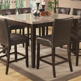 Colberg Wood Counter Height Dining Table by Fleur De Lis Living