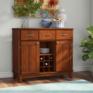 Ferris 3 Drawer Wood Server by Three Posts