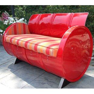 Bravada Salsa Loveseat with Cushion by Drum Works Furniture