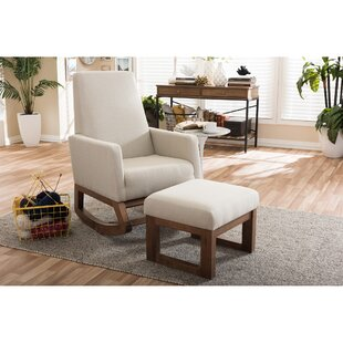 Nola Rocking Chair & Ottoman by Mistana