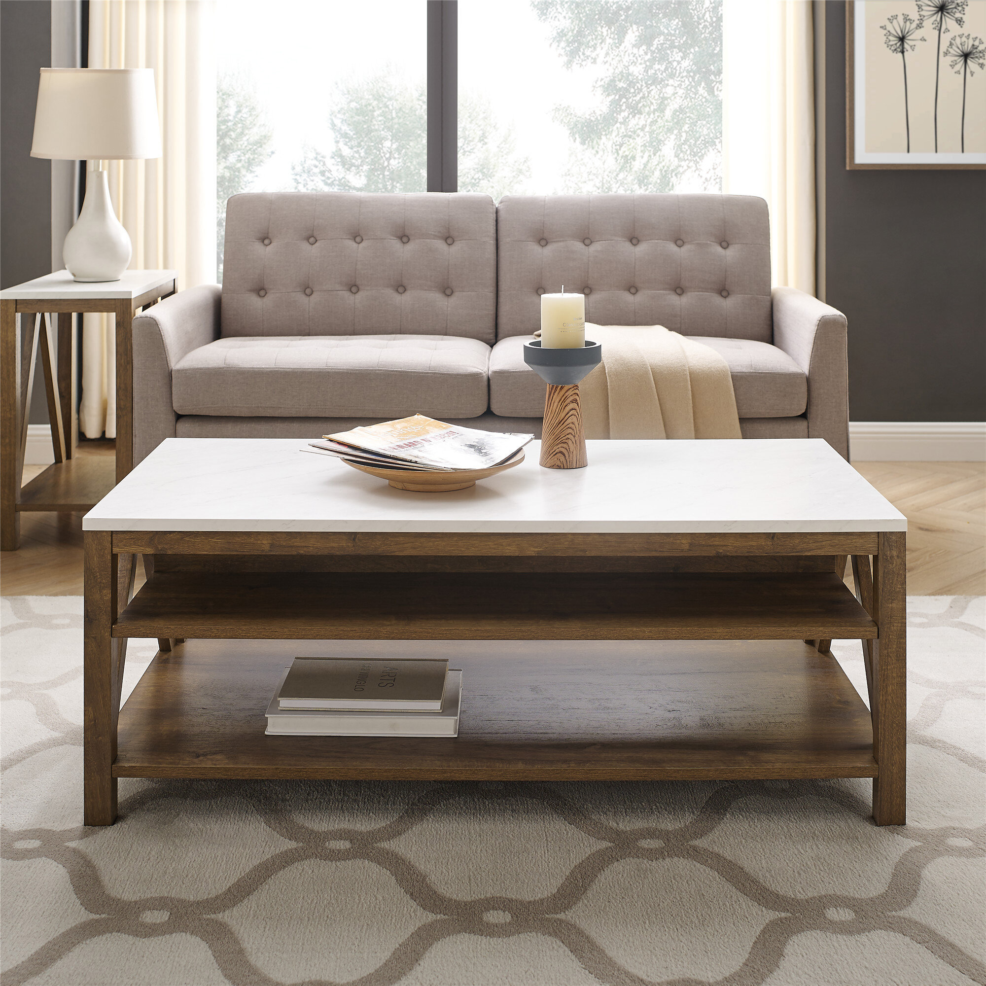 2 Piece Set Cabin Lodge Coffee Table Sets You Ll Love In 2021 Wayfair