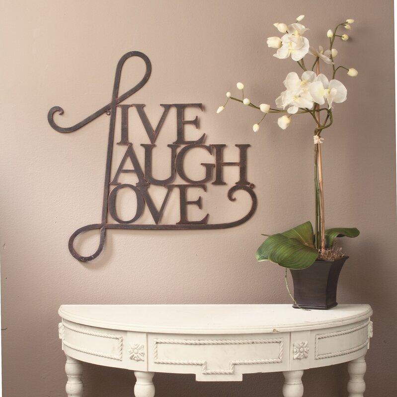Live, Laugh, Love Antique Copper Wall Decor