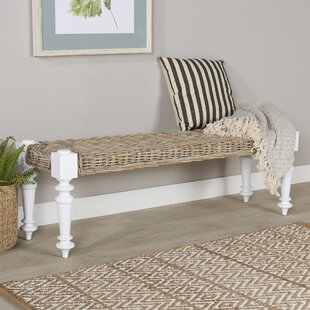 Savings Parkland Rattan Bench By Beachcrest Home