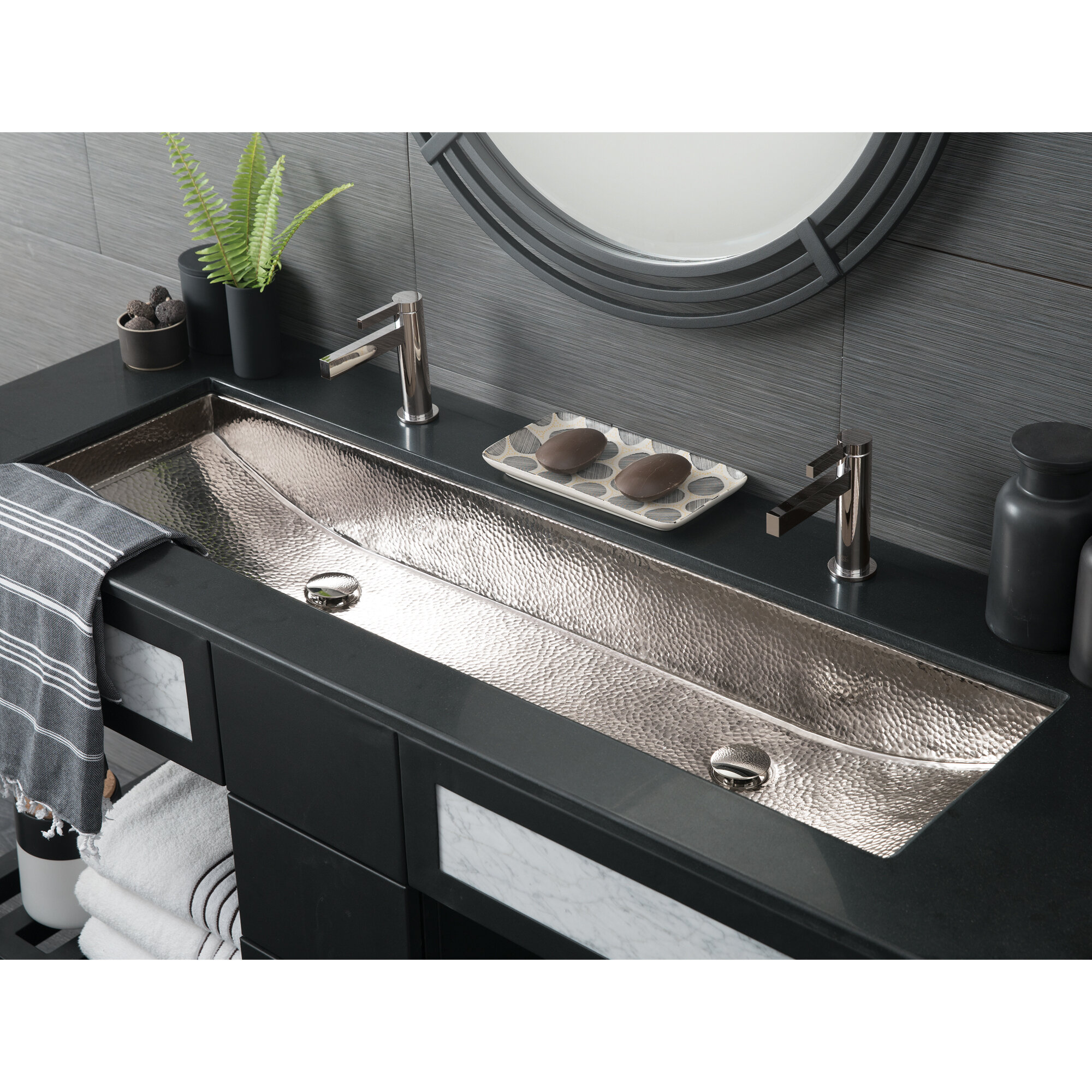 Trough Bathroom Sink