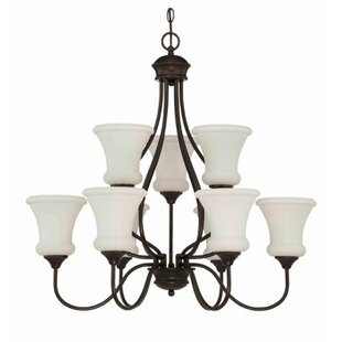 Charlton Home Freeborn 9-Light Shaded Chandelier