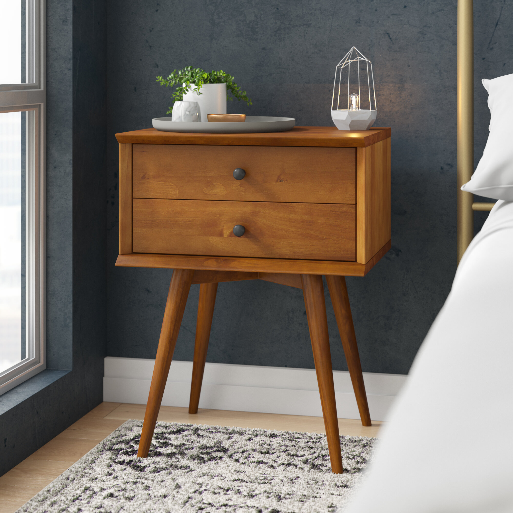 Aliyah 2 Drawer Nightstand Reviews Allmodern