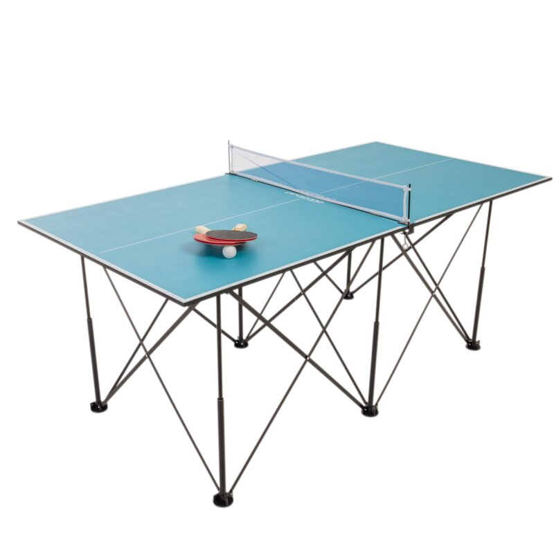Ping Pong Pop Up Foldable Indoor Table Tennis Table With Paddles And Balls 19mm Thick Wayfair