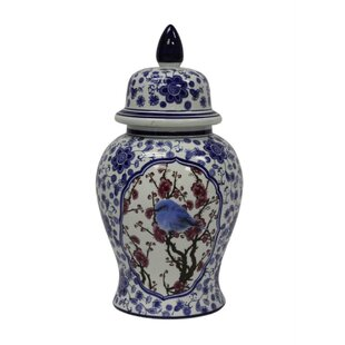 Decorative Ceramic Temple Storage Jar