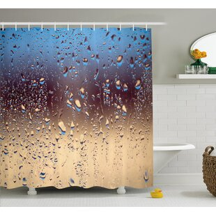 Rain Drops on Glass Decor Single Shower Curtain