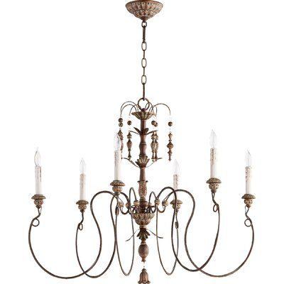 paladino 6light candlestyle chandelier