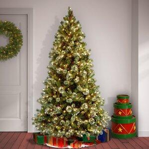 Pre Lit Christmas Tree With Snow