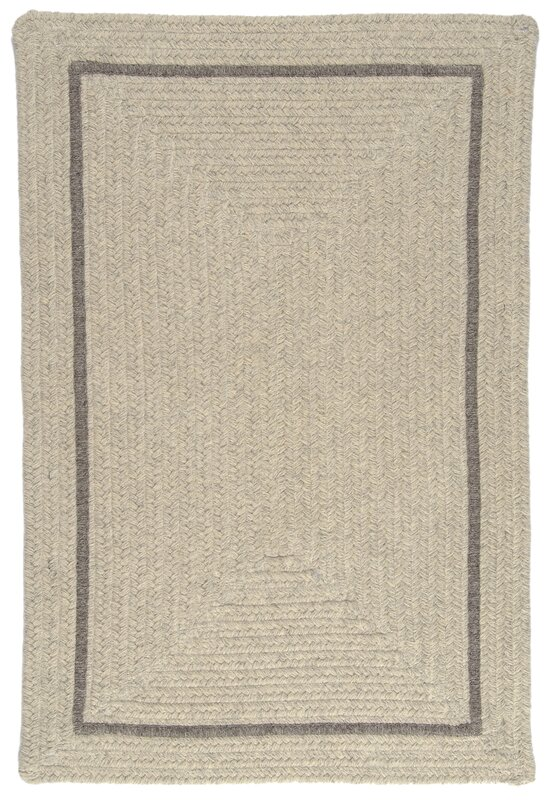 Shear Natural Braided Wool Rug