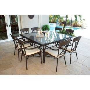 Panama Jack Outdoor Rum Cay 9 Piece Dining Set