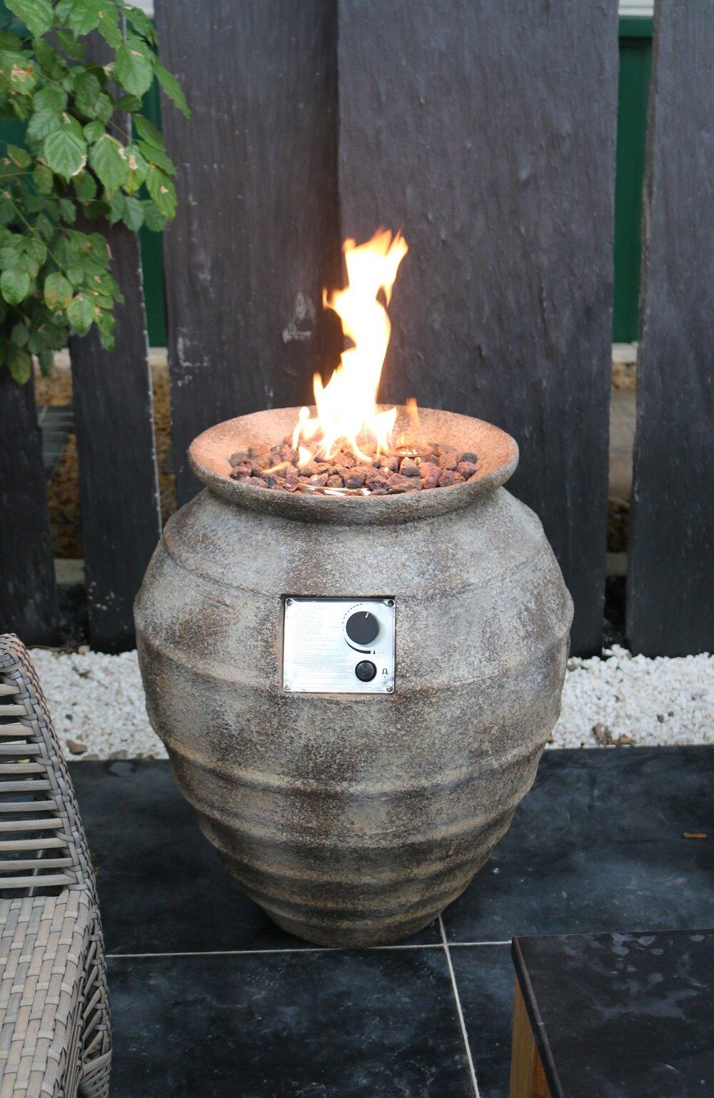 Red Barrel Studio Preble Concrete Propane Fire Column Wayfair