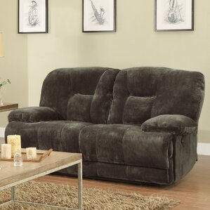 Geoffrey Double Reclining Loveseat by Woodha..