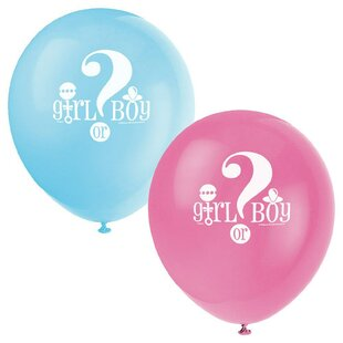 Gender Reveal Disposable Balloon (Set of 12)