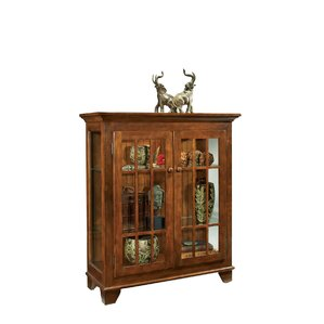 ColorTime Lighted Console Curio Cabinet b..